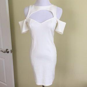 White cold shoulder Nasty Gal dress size S